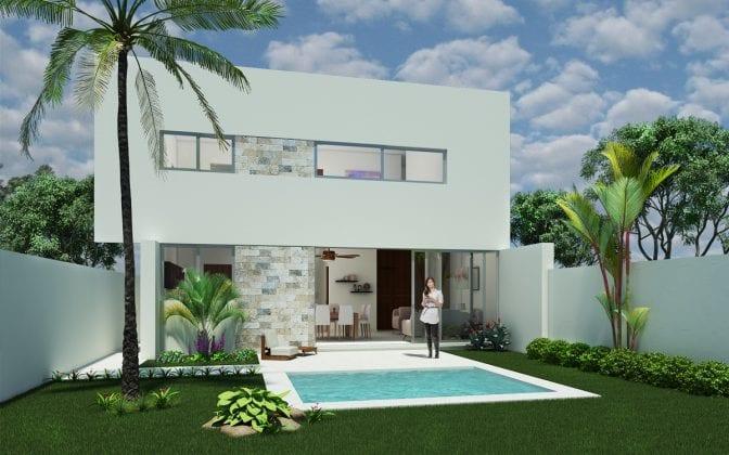 Casa de tres recamaras en preventa en privada conkal for Casas de tres recamaras